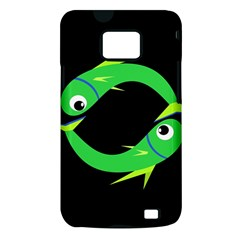 Green fishes Samsung Galaxy S II i9100 Hardshell Case (PC+Silicone)