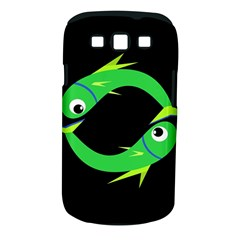Green fishes Samsung Galaxy S III Classic Hardshell Case (PC+Silicone)