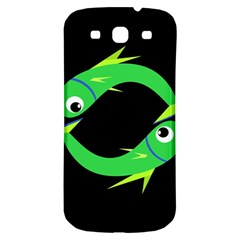 Green fishes Samsung Galaxy S3 S III Classic Hardshell Back Case