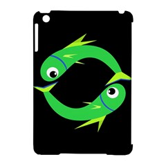 Green fishes Apple iPad Mini Hardshell Case (Compatible with Smart Cover)