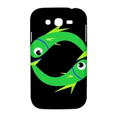 Green fishes Samsung Galaxy Grand DUOS I9082 Hardshell Case