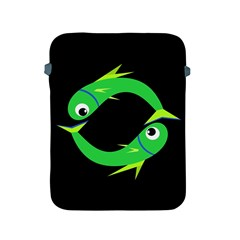 Green fishes Apple iPad 2/3/4 Protective Soft Cases