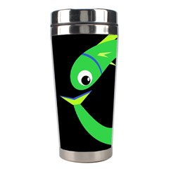 Green fishes Stainless Steel Travel Tumblers
