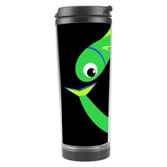 Green fishes Travel Tumbler