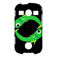 Green fishes Samsung Galaxy S7710 Xcover 2 Hardshell Case