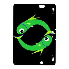 Green fishes Kindle Fire HDX 8.9  Hardshell Case
