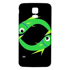 Green fishes Samsung Galaxy S5 Back Case (White)
