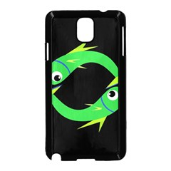 Green fishes Samsung Galaxy Note 3 Neo Hardshell Case (Black)
