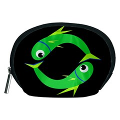 Green fishes Accessory Pouches (Medium)
