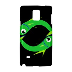 Green fishes Samsung Galaxy Note 4 Hardshell Case