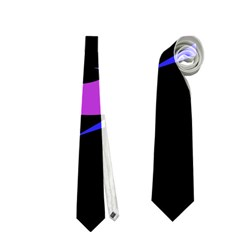 Purple fishes Neckties (Two Side)