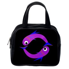Purple fishes Classic Handbags (One Side)