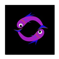 Purple fishes Face Towel