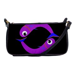 Purple fishes Shoulder Clutch Bags