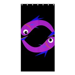 Purple fishes Shower Curtain 36  x 72  (Stall)