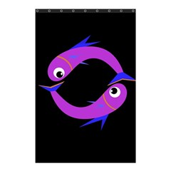 Purple fishes Shower Curtain 48  x 72  (Small)