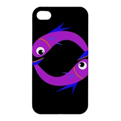 Purple fishes Apple iPhone 4/4S Hardshell Case