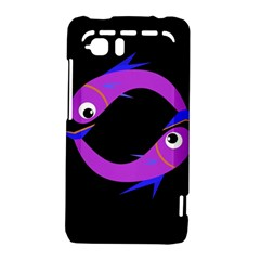 Purple fishes HTC Vivid / Raider 4G Hardshell Case