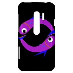 Purple fishes HTC Evo 3D Hardshell Case
