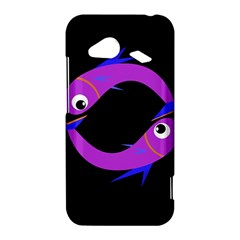Purple fishes HTC Droid Incredible 4G LTE Hardshell Case
