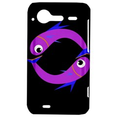 Purple fishes HTC Incredible S Hardshell Case