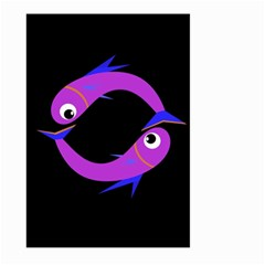 Purple fishes Large Garden Flag (Two Sides)