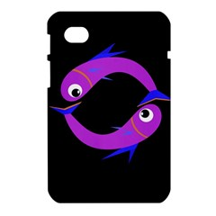 Purple fishes Samsung Galaxy Tab 7  P1000 Hardshell Case