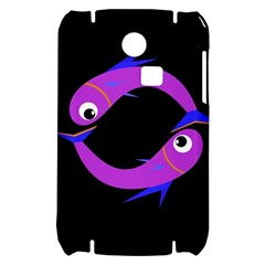 Purple fishes Samsung S3350 Hardshell Case