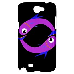 Purple fishes Samsung Galaxy Note 2 Hardshell Case