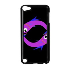 Purple fishes Apple iPod Touch 5 Case (Black)