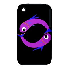 Purple fishes Apple iPhone 3G/3GS Hardshell Case (PC+Silicone)