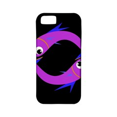 Purple fishes Apple iPhone 5 Classic Hardshell Case (PC+Silicone)