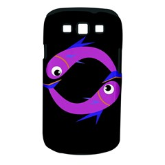 Purple fishes Samsung Galaxy S III Classic Hardshell Case (PC+Silicone)