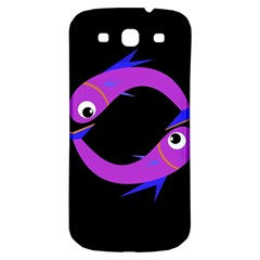 Purple fishes Samsung Galaxy S3 S III Classic Hardshell Back Case