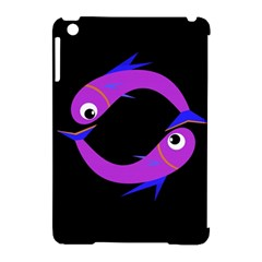 Purple fishes Apple iPad Mini Hardshell Case (Compatible with Smart Cover)