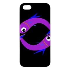 Purple fishes Apple iPhone 5 Premium Hardshell Case
