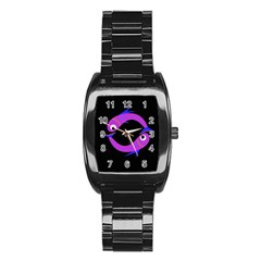Purple fishes Stainless Steel Barrel Watch