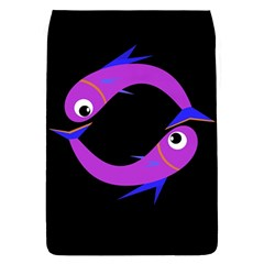 Purple fishes Flap Covers (S)
