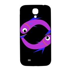 Purple fishes Samsung Galaxy S4 I9500/I9505  Hardshell Back Case