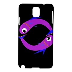 Purple fishes Samsung Galaxy Note 3 N9005 Hardshell Case