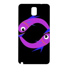 Purple fishes Samsung Galaxy Note 3 N9005 Hardshell Back Case