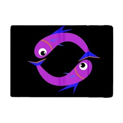 Purple fishes iPad Mini 2 Flip Cases