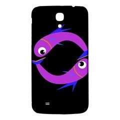 Purple fishes Samsung Galaxy Mega I9200 Hardshell Back Case