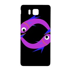 Purple fishes Samsung Galaxy Alpha Hardshell Back Case