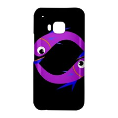 Purple fishes HTC One M9 Hardshell Case