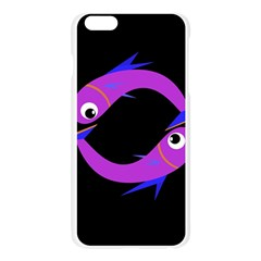 Purple fishes Apple Seamless iPhone 6 Plus/6S Plus Case (Transparent)