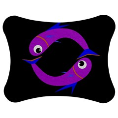 Purple fishes Jigsaw Puzzle Photo Stand (Bow)