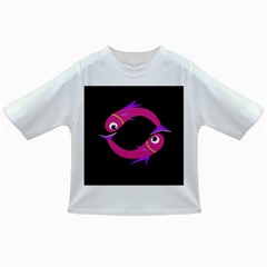 Magenta fishes Infant/Toddler T-Shirts
