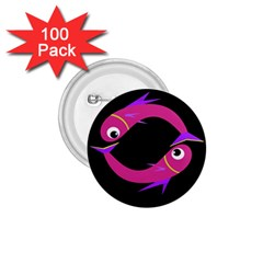 Magenta fishes 1.75  Buttons (100 pack)