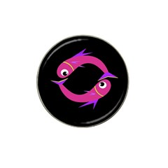 Magenta fishes Hat Clip Ball Marker